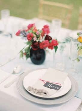 Modern Summer wedding placecards