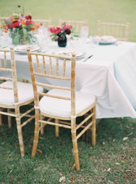 Modern summer wedding table