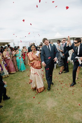 Newlyweds at Indian Wedding