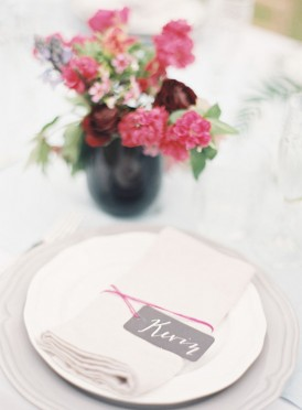 Placecard idea for Summer wedding