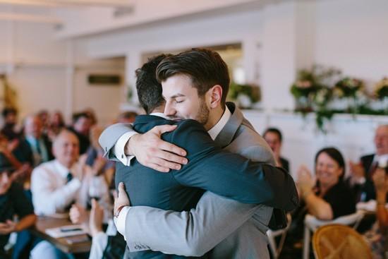Post speech hugs at Watsons Bay Boutique Hotel