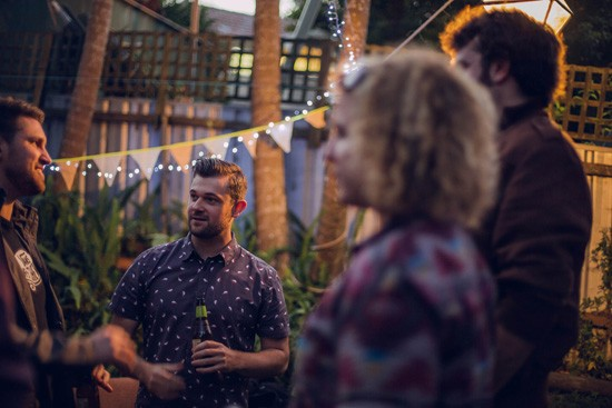 Relaxed garden engagement party35