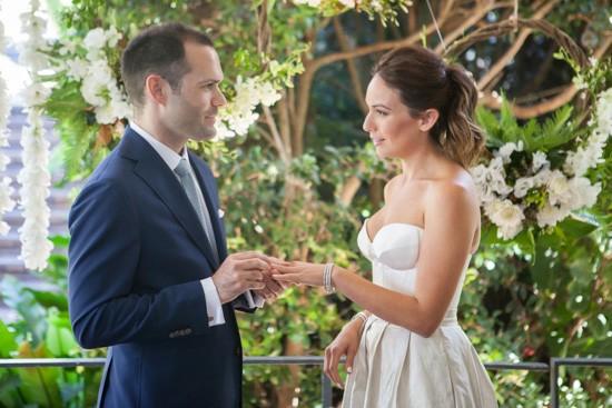 Ring exchnage at Sydney wedding