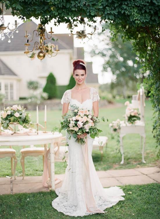 Romantic country wedding idea