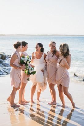 Rose Quartz Bridesmaid Gowns