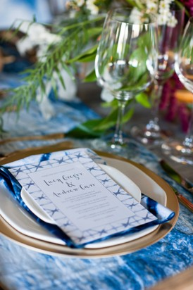 Shibori Inspired Wedding093