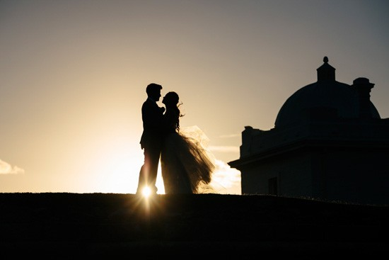 Silhouette Sydney Wedding photo