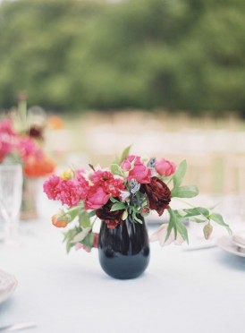 Summer wedding vase