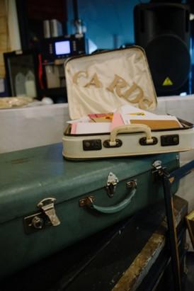 Vintage wedding card suitcase