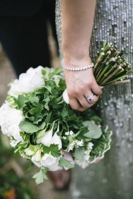 Wedding bouquet of greenery