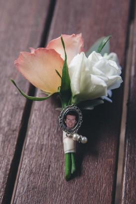 Wedding boutonerrie with locket