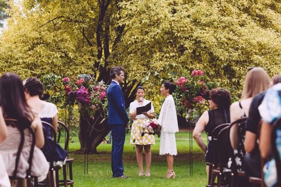 Wedding ceremony in Fitzroy Gardens