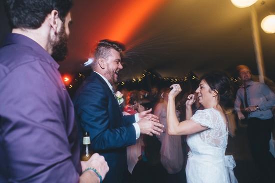 Wedding dancing in marquee