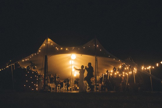 Wedding entrance in marquee