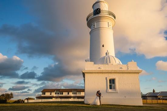 Wedding photo at Lighthouse in Sydney