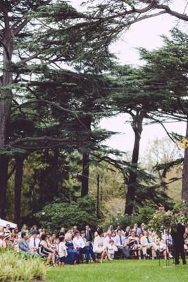 Wedding reception in Fitzroy gardens