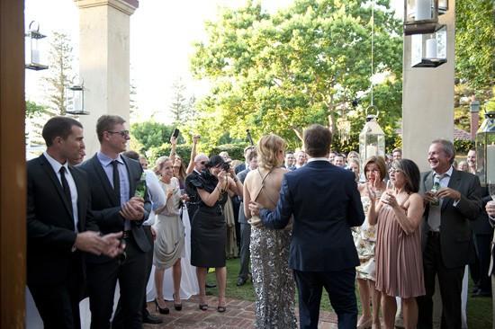Wedding speeches at backyard wedding