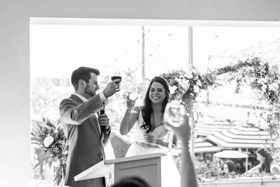 Wedding toast at Watsons Bay Boutique Hotel