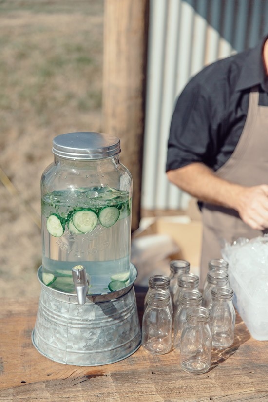 Wedding water with cucumbers