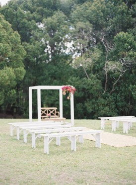 White ceremony furniture