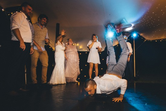 Worm at wedding dance