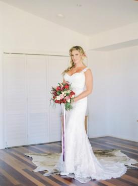Bride in maggie Sottero heather