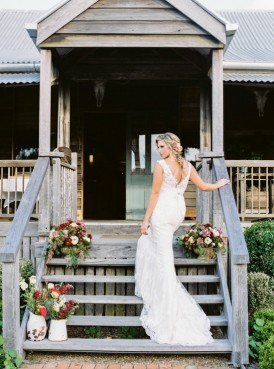 Bride wearing Maggie Sottero Heather