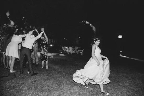 Bride with converse