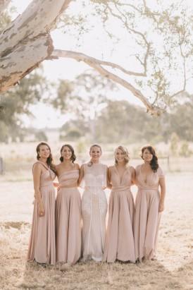 Bridesmaids in pink Twobirds Bridesmaids