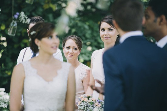 Bridesmaids warching ceremony