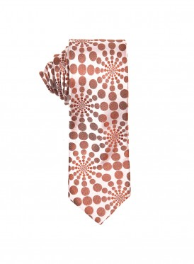 Burnt orange Kaleidoscope tie