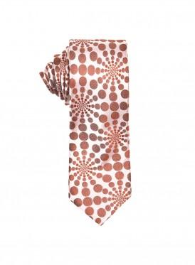 Burnt orange Kaleidoscope tie