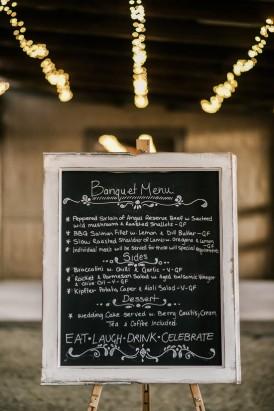 Chalkbaord wedding menu