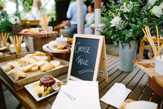 Cheese table at wedding