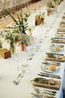 Copper and greenery wedding