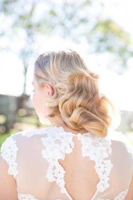 Curled wedding hair style