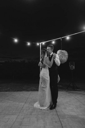First dance under festoon lighting
