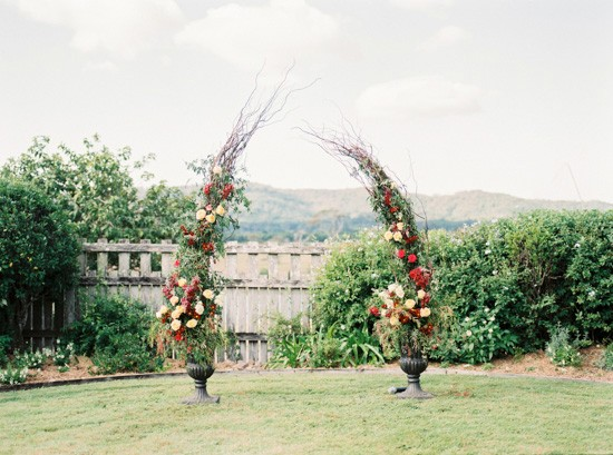 Floal arch for ceremony