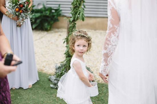 Flowergirl with bride