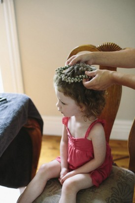 Flowergirl with flowercrown
