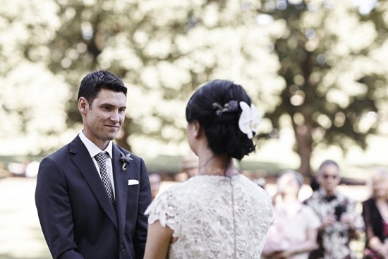 Garden wedding ceremony Melbourne