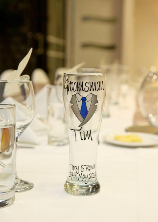 Groomsmen's gifts - Glasswarebyem
