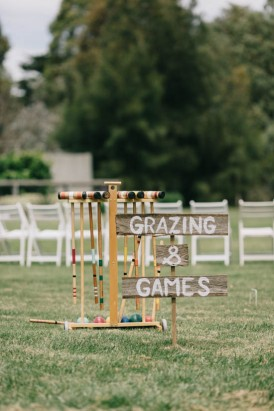 Grazing and Games wedding sign