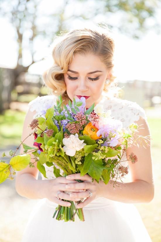 Green and bloom wedding glowers