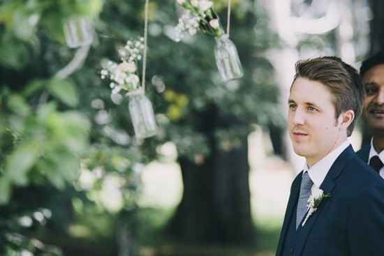 Groom awaitng bride