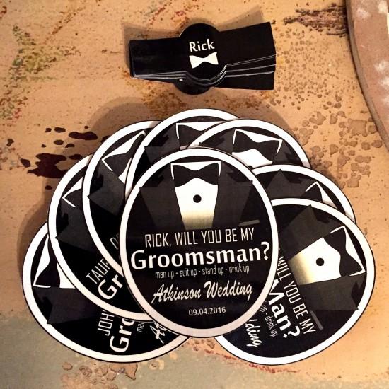Groomsmen's Gifts - Fifth Down Beer Labels