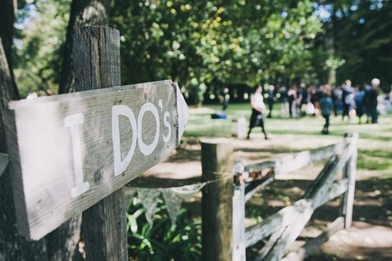 I Dos wooden wedding sign