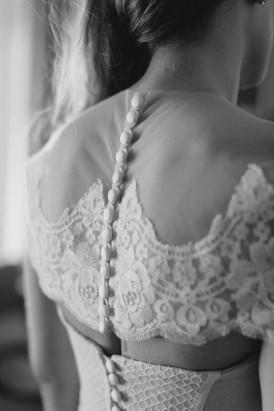 Lace Shoulder cape on wedding gown