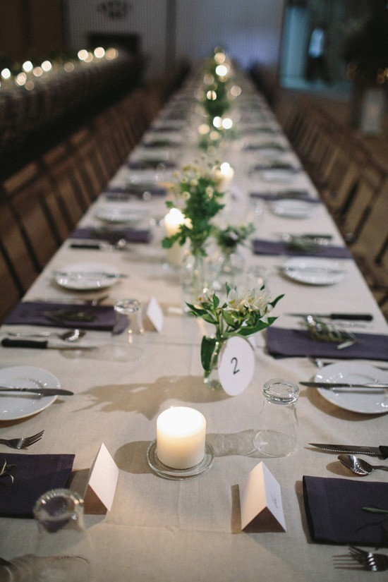 Long table at country wedding