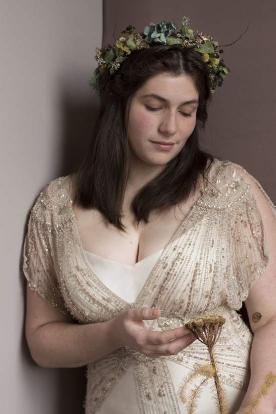 Marissa Gwendolynne Wedding Dress PLus size shoot close up